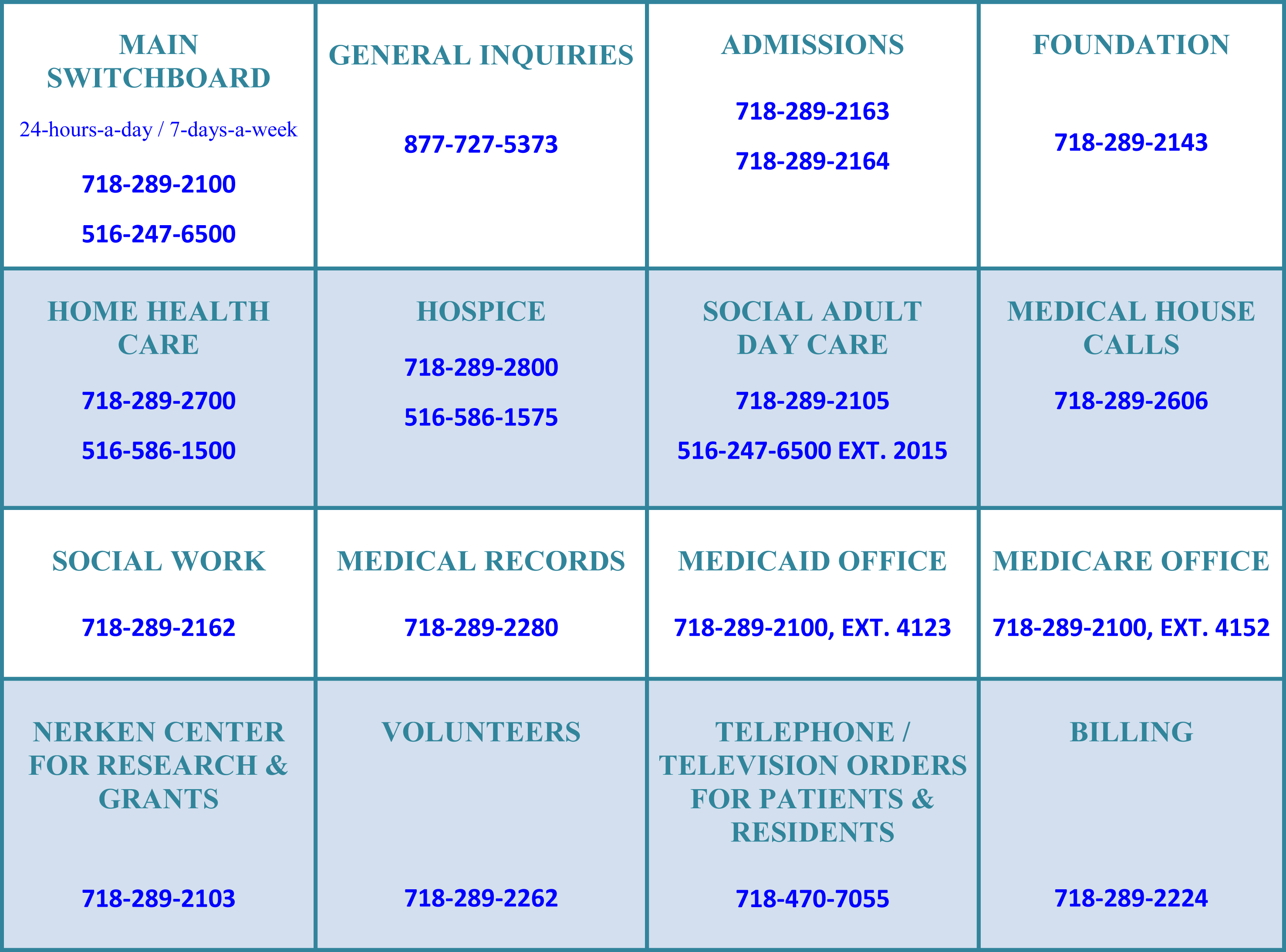 Contact Us Parker Jewish Institute For Health Care And Rehabilitation